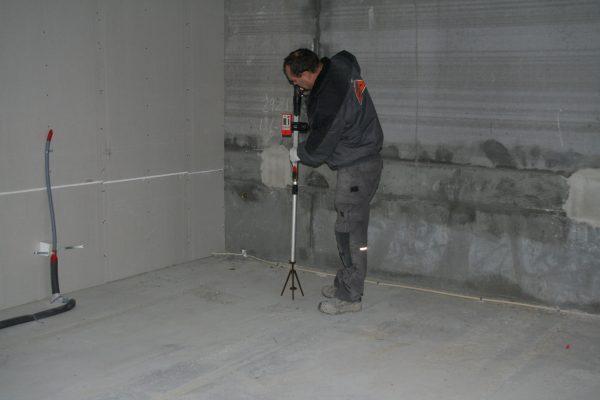 Thermobeton gulv - opmåling