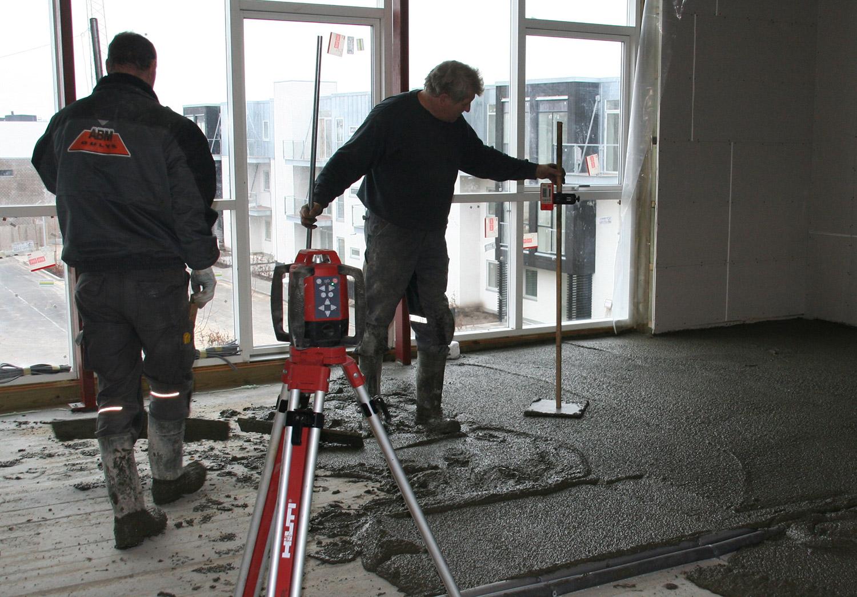 Thermobeton gulv afretning